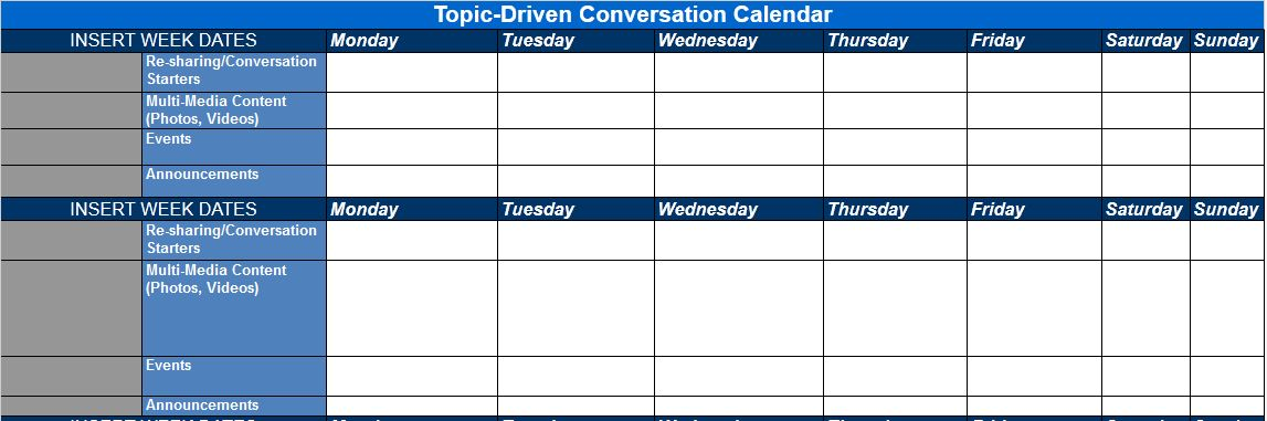 The Best Content And Social Media Calendar Templates Solo PR Pro - Social media content schedule template