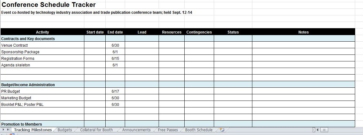 Large Conference Management Template  Events Planning Template