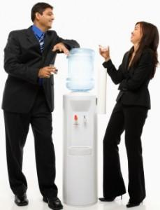 water cooler chatting