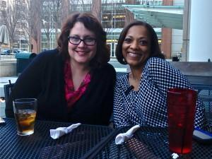 Solo PR Pro founder, Kellye Crane, and collaborator Karen Swim relax after the 2014 Solo PR Summit. Hope to see you again this year for another terrific event!