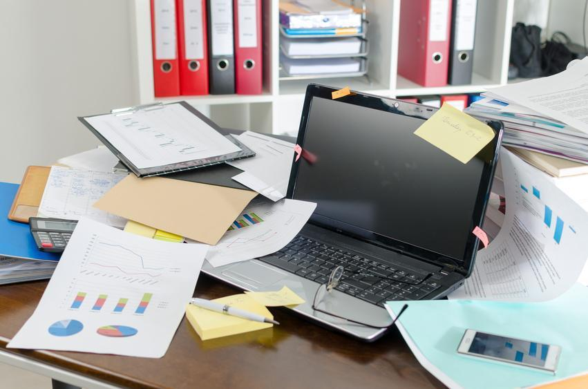 disorganized office